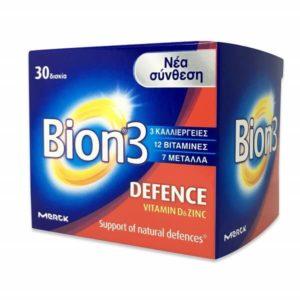 Βιταμίνες Bion 3 Defence Συμπλήρωμα Διατροφής Συμπλήρωμα Διατροφής με Προβιοτικά Βιταμίνες και Ιχνοστοιχεία 30 Ταμπλετες