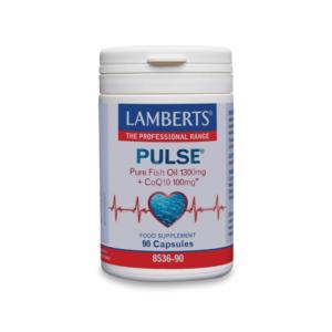 Ωμέγα 3-6-9 Lamberts – Αγνό Ιχθυέλαιο 1300mg και CoQ10 100mg για την Φυσιολογική Λειτουργία της Καρδιάς του Εγκεφάλου και της Όρασης 90caps