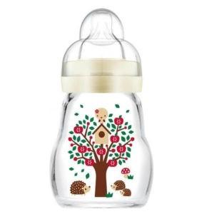 Αξεσουάρ Μωρού Mam Feel Good Γιάλινο Μπιμπερό με Θηλή από Σιλικόνη 0+ Μηνών 170ml