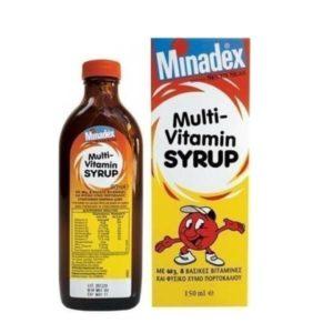 Διατροφή & Υγεία Seven Seas Minadex Multi Vitamin Syrup Με Ω3 8 Βασικές Βιταμίνες & Φυσικό Χυμό Πορτοκαλιού 100ml