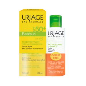 4Εποχές Uriage – Αντιηλιακή Κρέμα Προσώπου SPF50 50ml και Δώρο Ιαματικό Νερό Καθαρισμού 100ml
