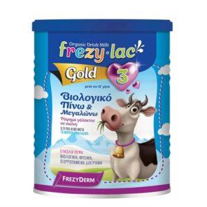 Βρεφικά Γάλατα Frezyderm – Frezylac Gold Νούμερο 3 Βιολογικό Αγελαδινό Γάλα μετά τον 12ο Μήνα 400g