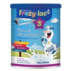 Βρεφικά Γάλατα Frezyderm – Frezylac Silver 3 Πίνω και Μεγαλώνω Ρόφημα Αγελαδινού Γάλακτος σε Σκόνη από τον 12ο μήνα 400gr
