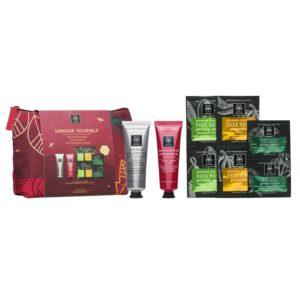 Γυναίκα Apivita – Unmask Yourself Σετ με Μάσκα Βαθύ Καθαρισμού με Πράσινο Άργιλο 50ml και Μάσκα Λάμψης με Ρόδι 50ml και Δώρο Μάσκες  με Φραγκόσυκο 2x8ml, Κολοκύθα 2x8ml και Ginkgo Biloba 2x2ml