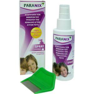 Μαμά - Παιδί Paranix – Αγωγή Κατά Των Φθειρών σε Σπρέι Με Κτενάκι 100ml