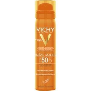 Περιποίηση Προσώπου Vichy – Ideal Soleil Mist Αόρατο Αντηλιακό Spray SPF50 Προσώπου για Υψηλή Προστασία 75ml
