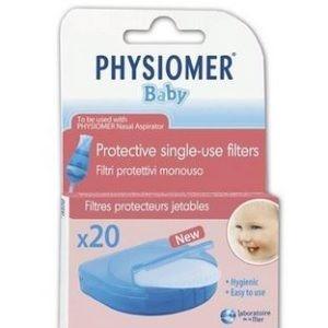 Μαμά - Παιδί Physiomer – Ανταλλακτικά Φίλτρα Ρινικού Αποφρακτήρα 20τμχ