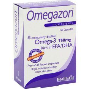 Διατροφή & Υγεία Health Aid Omegazon Omega 3 Iχθυέλαιο με Ωμέγα 3 Λιπαρά Οξέα 750mg για Καρδιά & Κυκλοφοριακό 60 Κάψουλες