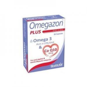 Διατροφή & Υγεία Health Aid Omegazon Plus Ω3 & CoQ10 για την Καλή Λειτουργία του Καρδιαγγειακού Συστήματος 30 Κάψουλες