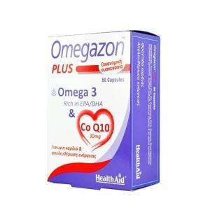 Διατροφή & Υγεία Health Aid Omegazon Plus Ω3 & CoQ10 για την Καλή Λειτουργία του Καρδιαγγειακού Συστήματος 60 Κάψουλες