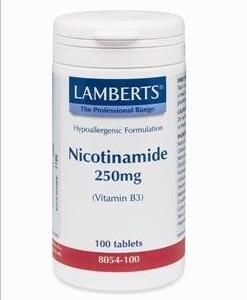 Βιταμίνες Lamberts – Νιασίνη (βιτ.B3) 250mg 100 tabs