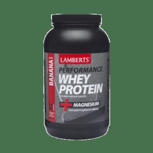 Διατροφή & Υγεία Lamberts – Υψηλής Ποιότητας και Καθαρότητας Πρωτεΐνη Ορού Γάλακτος με Γεύση Μπανάνας χωρίς Ασπαρτάμη 1000gr
