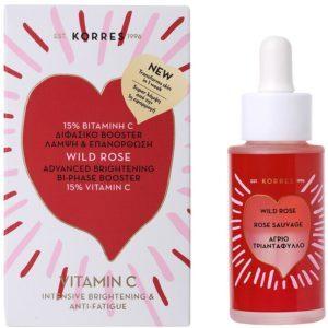Γυναίκα Korres – Άγριο Τριαντάφυλλο Διφασικό Booster 15% Βιταμίνη C 30ml
