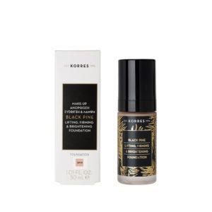 Γυναίκα Korres Μαύρη Πεύκη Υγρό Make-up για Ανόρθωση Σύσφιξη & Λάμψη BPF00 30ml