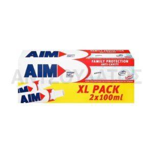 Στοματική Υγιεινή-ph AIM – Οδοντόκρεμα Family Protection Anti-Cavity XL 2x100ml