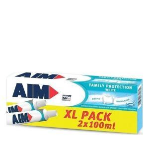 Οδοντόκρεμες-ph AIM – Οδοντόκρεμα Family Protection White XL 2x100ml