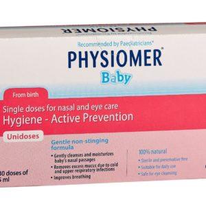 Άνοιξη Physiomer – Unidoses Αμπούλες για Νεογνά & Βρέφη για Μάτια & Μύτη 30x5ml