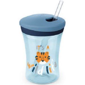 Αξεσουάρ Μωρού Nuk – Action Cup 12 Μηνών+ Ποτηράκι με Καλαμάκι και Βυδωτό Καπάκι 230ml