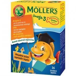 Παιδικές Βιταμίνες Moller's – Omega 3 για Παιδιά με γεύση Πορτοκάλι-Λεμόνι 36 ζελεδάκια