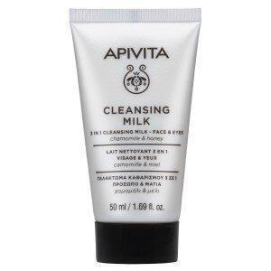 Περιποίηση Προσώπου Apivita – Mini 3 in 1 Cleansing Milk για Πρόσωπο και Μάτια με Χαμομήλι και Μέλι 50ml