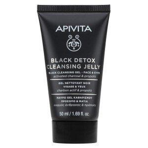 Περιποίηση Προσώπου Apivita – Mini Μαύρο Τζέλ Καθαρισμού για Πρόσωπο και Μάτια με Ενεργό 'νθρακα και Πρόπολη 50ml