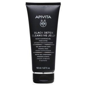 Περιποίηση Προσώπου Apivita – Μαύρο Τζέλ Καθαρισμού για Πρόσωπο και Μάτια με Ενεργό Άνθρακα και Πρόπολη 150ml