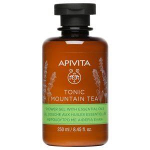 Γυναίκα Apivita Tonic Mountain Tea Αφρόλουτρο με Αιθέρια Έλαια 250ml