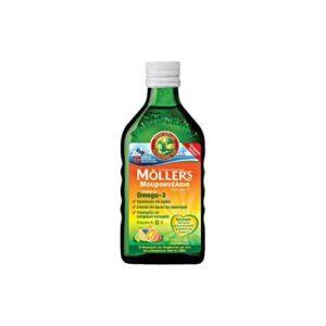 Παιδικές Βιταμίνες Moller's – Μουρουνέλαιο με γεύση φρούτων 250ml