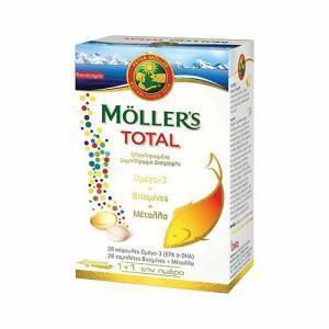 Βιταμίνες Moller's – Total Ολοκληρωμένο Συμπλήρωμα Διατροφής 28κάψουλες 28βιταμίνες
