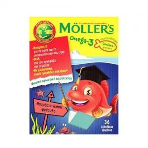 Παιδικές Βιταμίνες Moller's – Omega 3 για Παιδιά με γεύση φράουλα 36 ζελεδάκια