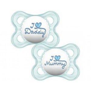 Πιπίλες - Μπιμπερό MAM – I love Mummy & Daddy Πιπίλα Σιλικόνης 6+ Μηνών 170S 2τμχ