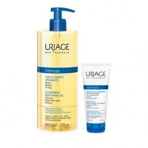 Περιποίηση Προσώπου Uriage – Promo Xemose Καταπραϋντικό Λάδι Καθαρισμού Ντους- Μπάνιο 500 ml και Βάλσαμο για Πολύ Ξηρά Δέρματα προς Ατοπικά 50ml