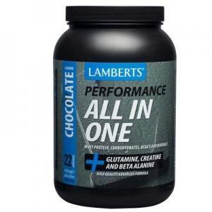 Πρωτεΐνες - Υδατάνθρακες Lamberts – Υψηλής Ποιότητας και Καθαρότητας Πρωτεΐνη Ορού Γάλακτος Ενισχυμένη με Υδατάνθρακες Γλουταμίνη Κρεατίνη Βήτα-Αλανίνη και HMB με Γεύση Σοκολάτα 1450g