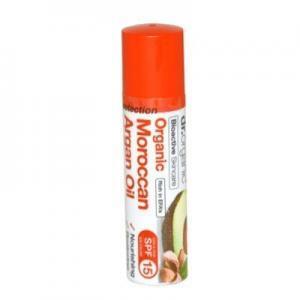 4Εποχές Dr. Organic – Lip Balm Χειλιών με  Έλαιο Αργκάν SPF15 5.7ml