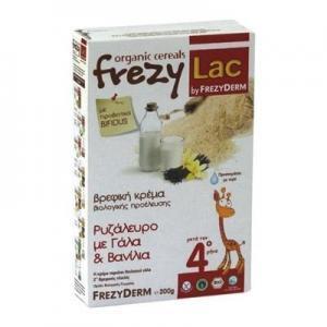 Διατροφή Βρέφους Frezyderm – Frezylac Ρυζάλευρο με Γάλα και Βανίλια 200g