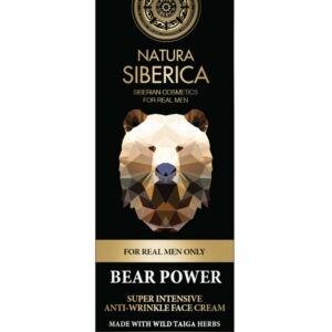 Καθαρισμός-Άνδρας Natura Siberica – Men Bear Power Face Cream , Σούπερ Εντατική Αντιρυτιδική Κρέμα Προσώπου, Κατάλληλο για Όλους τους Τύπους Δέρματος, για Ώριμες Επιδερμίδες , 50ml