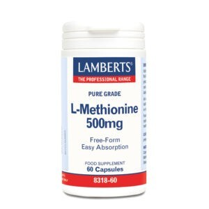 Συμπληρώματα Διατροφής Lamberts – Μεθειονίνη 500mg Αμινοξύ για τους Μυϊκούς Ιστούς Βοηθά σε Περιπτώσεις Αθλητικών Κακώσεων ή Τραυμάτων 60 caps