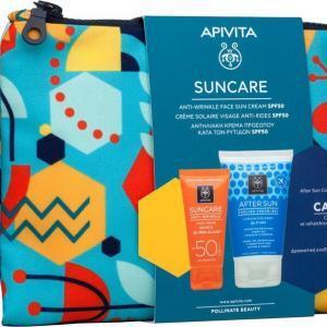 Γυναίκα Apivita – Apivita Set Suncare Anti-Wrinkle Cream Αντιρυτιδική Κρέμα Προσώπου SPF50 50ml και Δώρο After Sun 100ml