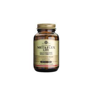 Διατροφή & Υγεία Solgar – Meta-Flex LITE Glucosamine MSM Complex για τις Αρθρώσεις Χωρίς Οστρακοειδή Κατάλληλο για Φυτοφάγους 60tabs