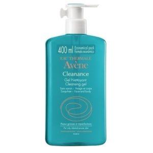 Καθαρισμός-Άνδρας Avene – Cleanance Τζελ Nettoyant Καθαρισμού για Λιπαρές Επιδερμίδες 400ml
