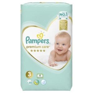 Βρεφική Φροντίδα Pampers – Premium Care Value Pack No 3 (6-10kg) Βρεφικές Πάνες 60τμχ