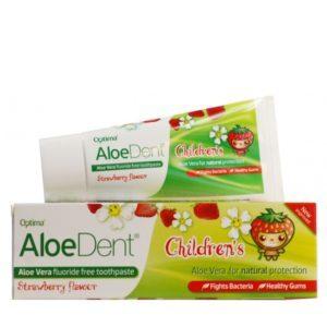 Οδοντόκρεμες-ph Optima – AloeDent Strawberry Children's Toothpaste Παιδική Οδοντόκρεμα Aλόης με γεύση Φράουλας 50ml