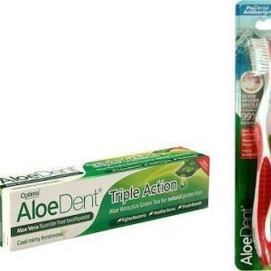 Οδοντόκρεμες-ph Optima – AloeDent Triple Action Toothpaste Οδοντόκρεμα 100ml Δώρο Οδοντόβουρτσα