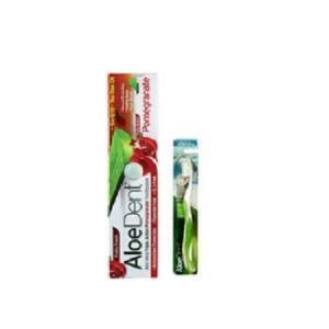 Οδοντόκρεμες-ph Optima – AloeDent Triple Action Pomegranate Toothpaste Οδοντόκρεμα 100ml και Δώρο Οδοντόβουρτσα