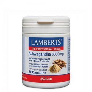 Διατροφή & Υγεία Lamberts – Ashwagandha 6000mg 60 Caps Ανοσοποιητικό