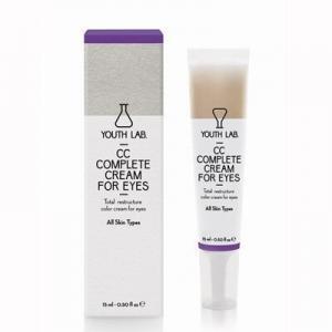 Περιποίηση Προσώπου Youth Lab – CC Complete Cream For Eyes Καλυπτική Κρέμα Ματιών Με Χρώμα 15ml