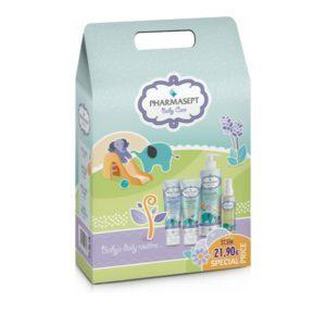 Μαμά - Παιδί Pharmasept – Baby Kit Promo Pack Με Mild Bath Αφρόλουτρο 500ml και Soothing Cream 150ml και Extra Calm Cream 150ml και Baby Natural Oil 100ml