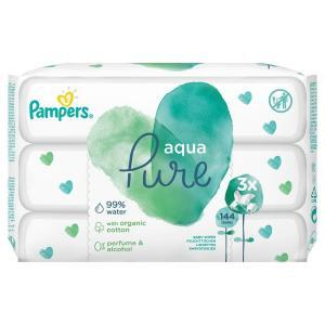 Βρεφική Φροντίδα Pampers – Promo Aqua Pure Μωρομάντηλα 3×48τμχ