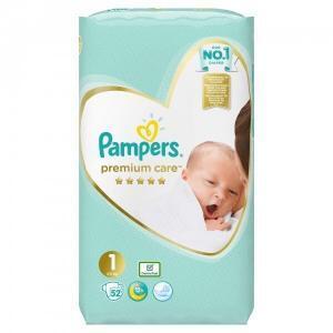 Βρεφική Φροντίδα Pampers – Premium Care Value Pack No 1 (2-5kg) Βρεφικές Πάνες 52τμχ