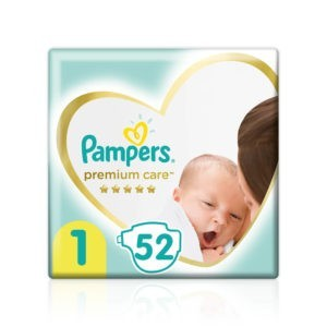 Μαμά - Παιδί Pampers – Premium Care Value Pack No 1 (2-5kg) Βρεφικές Πάνες 52τμχ